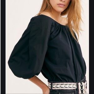 NWT Free People Sunshine Blouse Off Shoulder Top